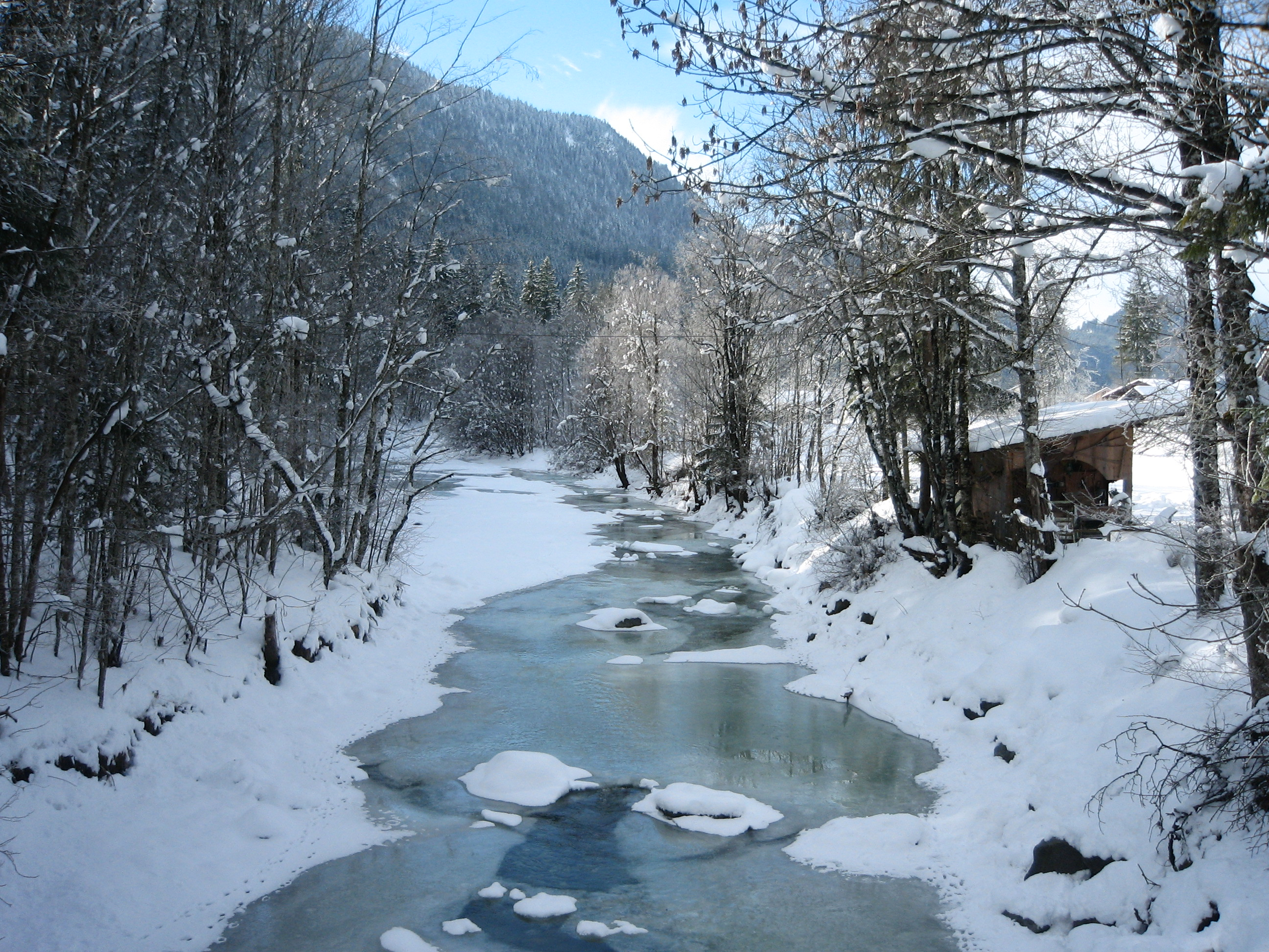 The_Jachen_stream_on_a_sunny_winter_day_Bavaria_Germany
